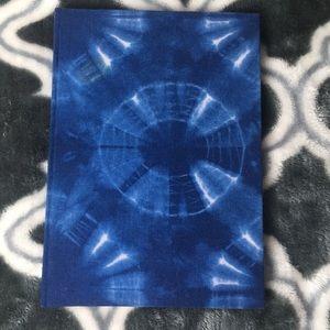 Blue tie-dye sketchbook